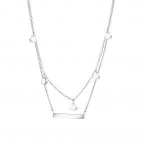Stříbrný náhrdelník Lots of hearts