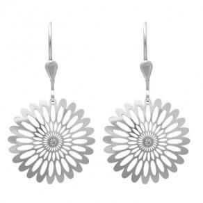 Stříbrné náušnice NA0517 Shining Blossom