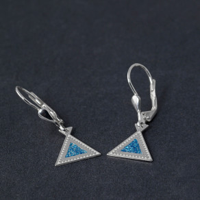 Stříbrné náušnice Triangle