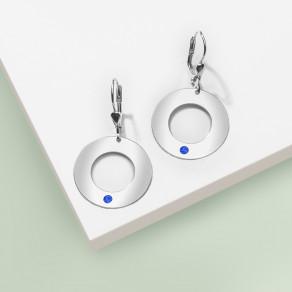 Stříbrné náušnice Blue Simplicity