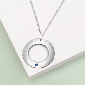 Stříbrný přívěsek na řetízku Blue Simplicity