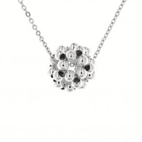 Stříbrný náhrdelník Bolla čirý